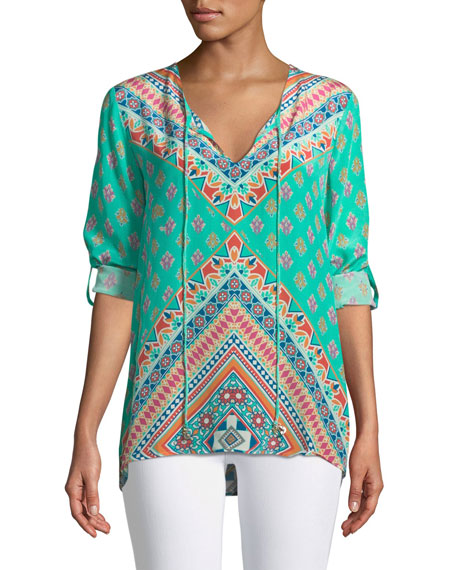 Brooke Graphic-Print Tunic