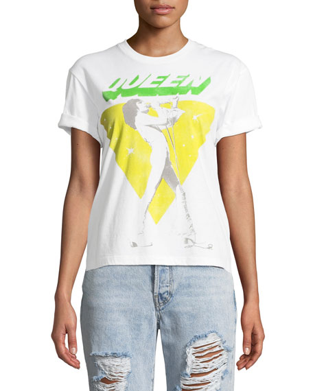 Shira Queen Roll-Sleeve Graphic Tee