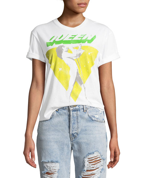AO.LA by Alice+Olivia Shira Roll-Sleeve Graphic Tee and