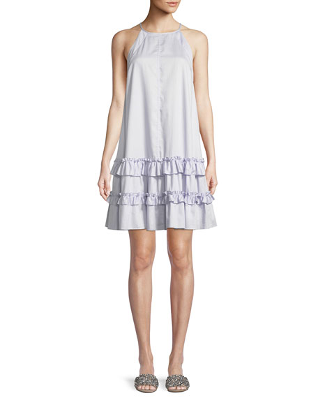 Poplin Ruffle Tank Dress