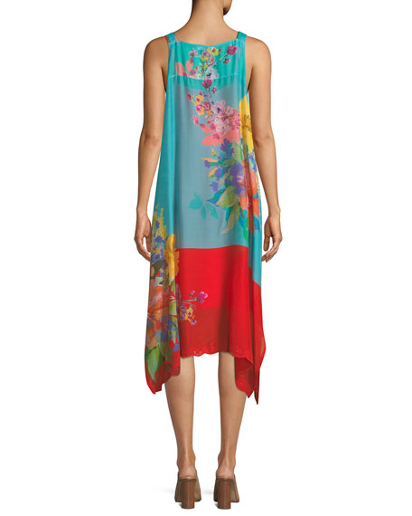 Lomi Georgette Tank Dress with Slip