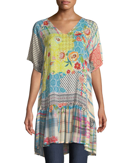 Johnny Was Happy Patchwork Georgette Tunic