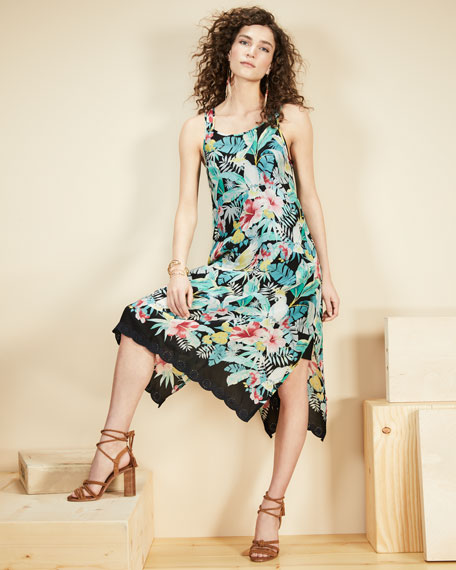 Lomi Georgette Tank Dress w/ Slip