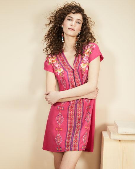 Vella Easy Knit Short-Sleeve Tunic Dress