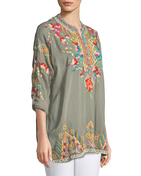 Jessa Embroidered Georgette Tunic