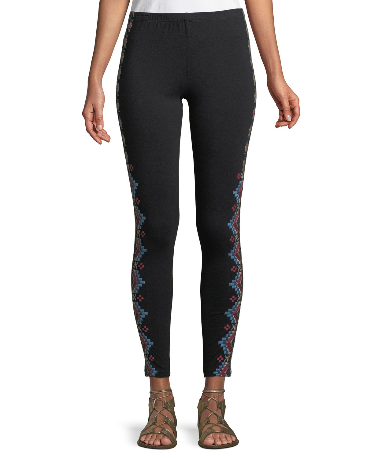 7052c7b06d42c2 Johnny Was Sonoma Embroidered Leggings, Plus Size | Neiman Marcus