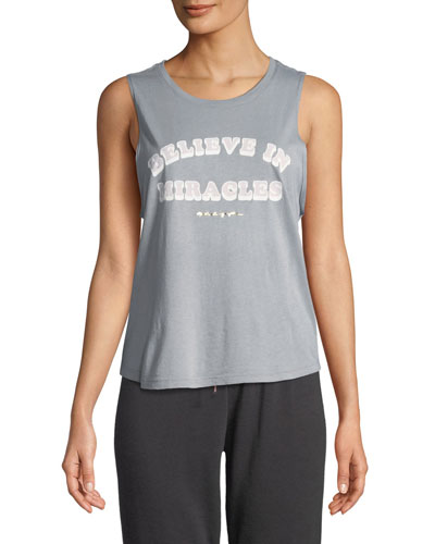Believe In Miracles Graphic Muscle Tank