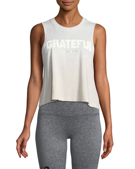 Spiritual Gangster Grateful Cropped Statement Muscle Tank