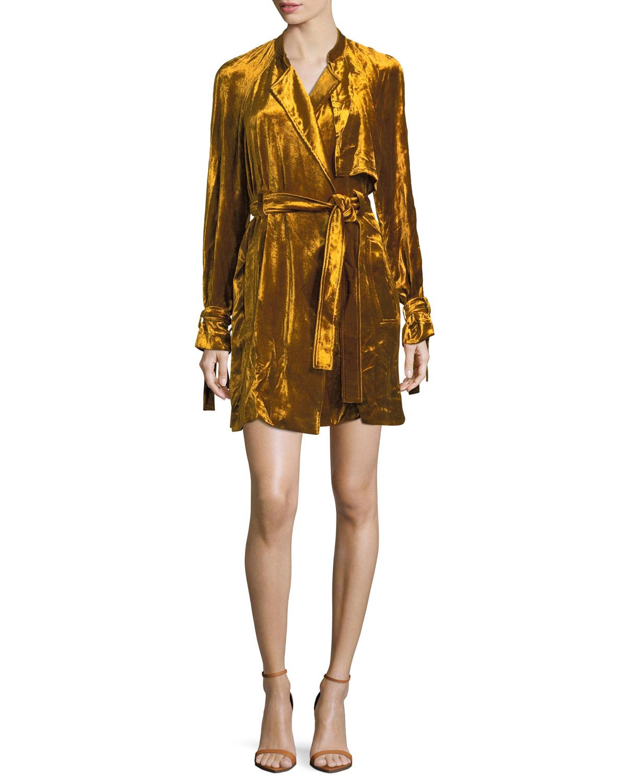 A.L.C. Kendall Velvet Trench Dress  36c651cf826b0