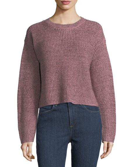 Jubilee Metallic Crewneck Sweater