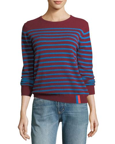 Sophie Crewneck Striped Cashmere Sweater