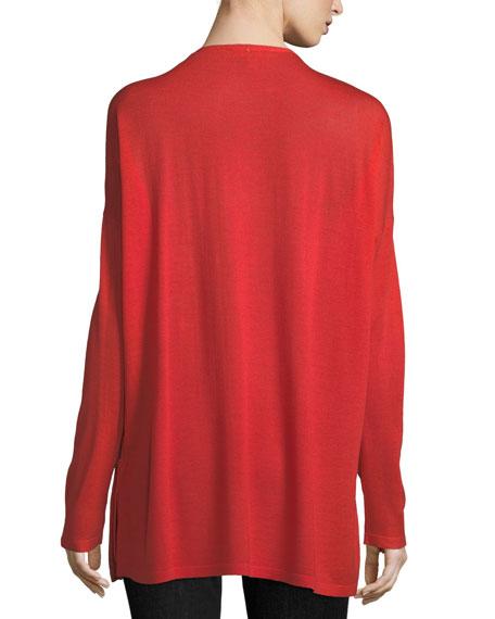 Ultrafine Merino V-Neck Tunic, Plus Size