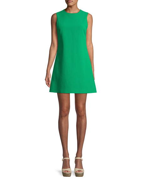 Alice + Olivia Coley Sleeveless Crewneck Mini Dress