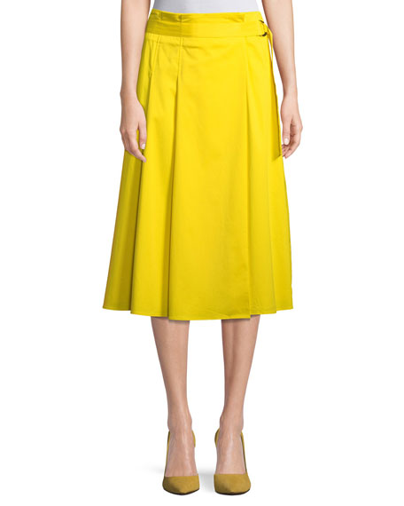Badgley Mischka Collection Side-Slit Midi Skirt