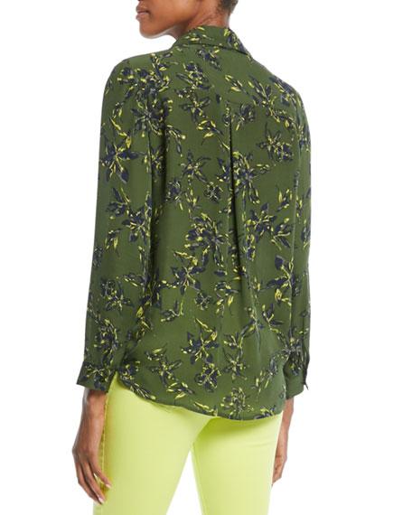 Nina Floral-Print Silk Blouse