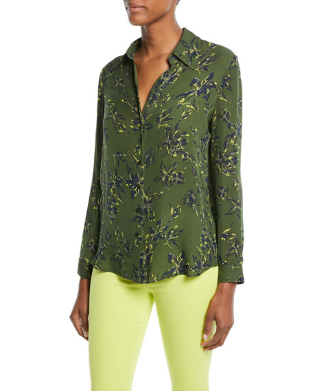 L'Agence Nina Floral-Print Silk Blouse and Matching Items