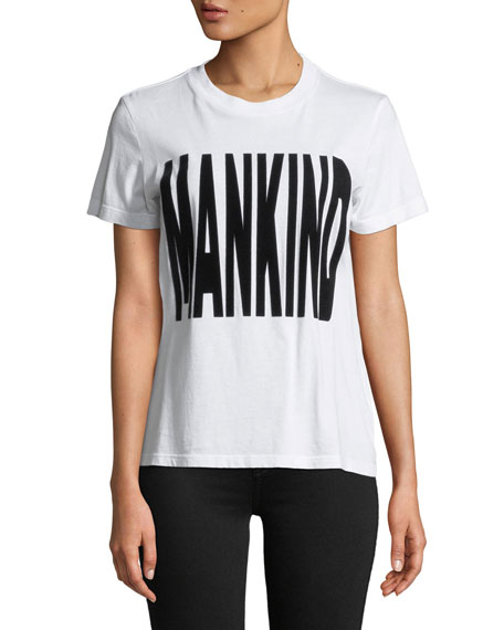 7 for all mankind Flocked Mankind Short-Sleeve Crewneck