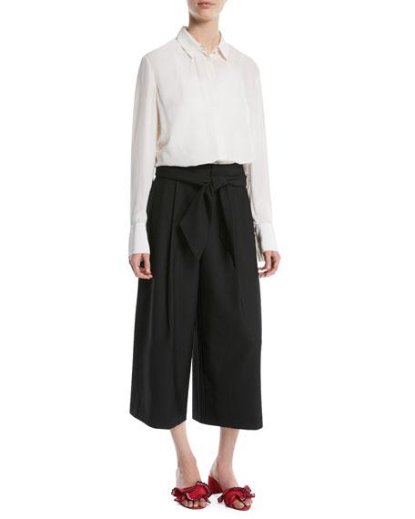 Izabelah Cropped Wide-Leg Pants