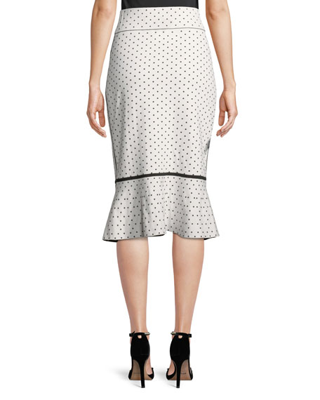 Graciekins Reversible Polka-Dot Midi Skirt