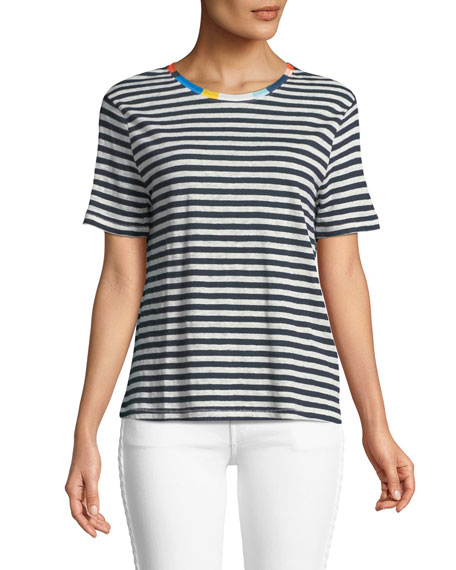 Ciao Bella Striped Crewneck Tee