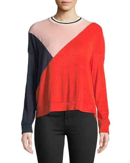Splendid Sportivo Colorblock Long-Sleeve Sweatshirt