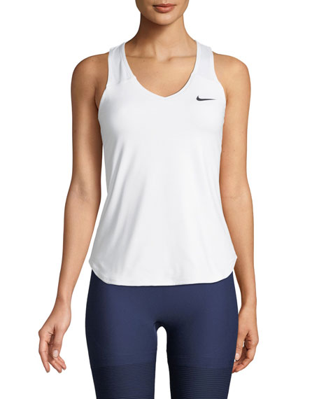 Court Racerback Dri-Fit Tennis Tank Top in White