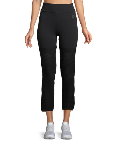 High-Rise Knit Cropped Leggings