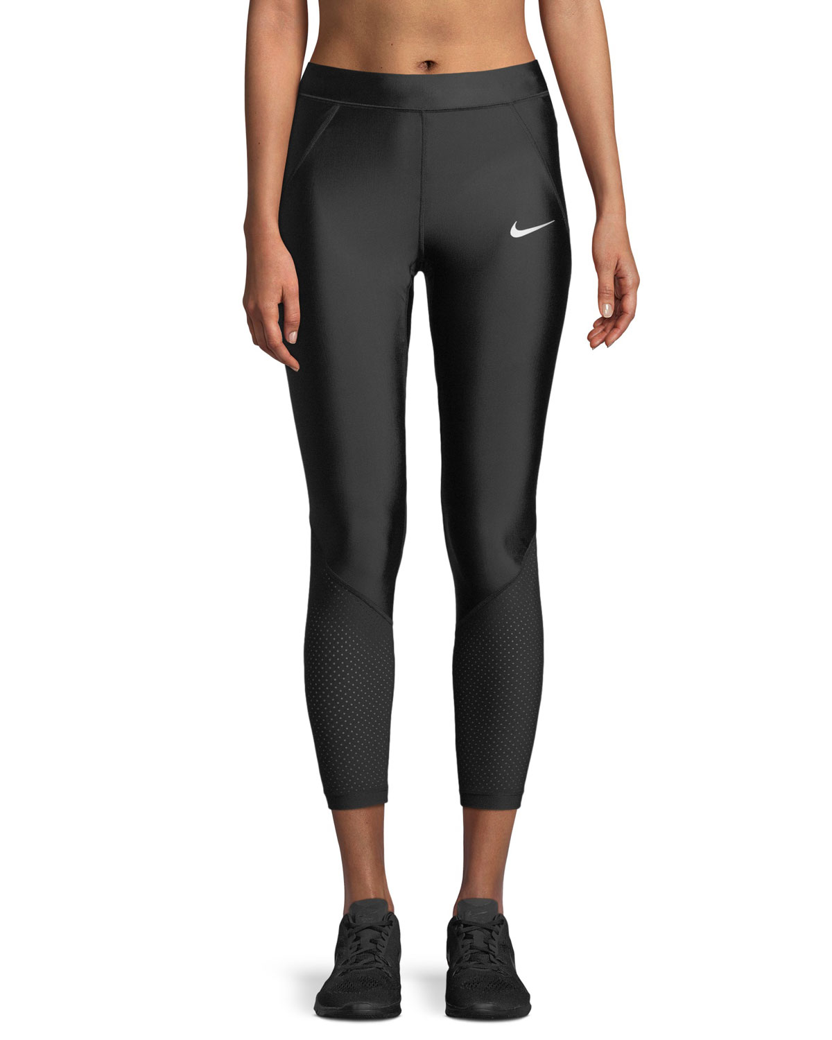 06c7792c6f7442 Nike Speed 7/8 Mesh-Panel Running Tights | Neiman Marcus