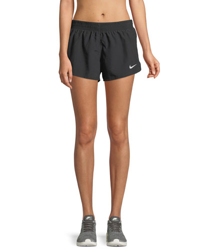 10K Pull-On Athletic Shorts with Side Stripes