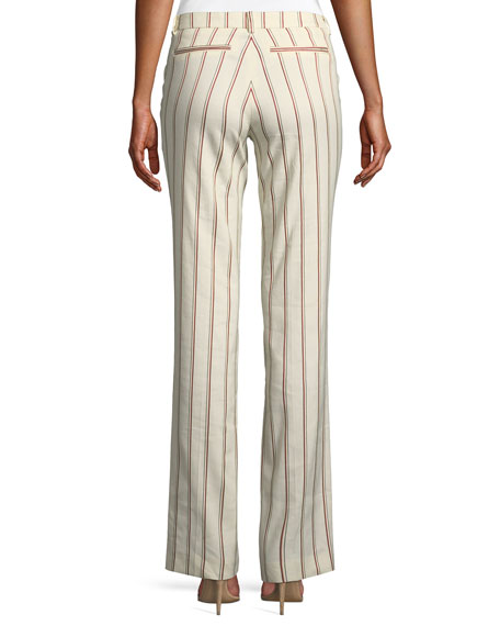 Fara Striped Straight-Leg Pants