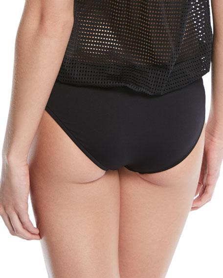 Good Karma Shirred-Side Swim Bikini Bottom