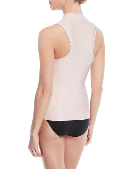 Feeling Fine Intensity Zip-Front Tankini Swim Top
