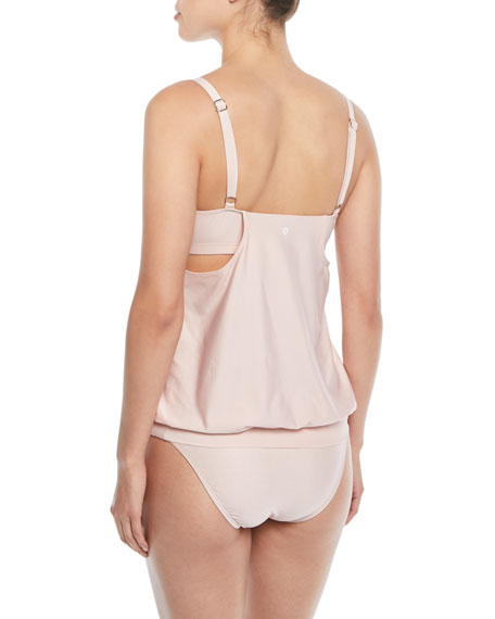 Feeling Fine Double Up Surplice Tankini Swim Top, B/C Cup