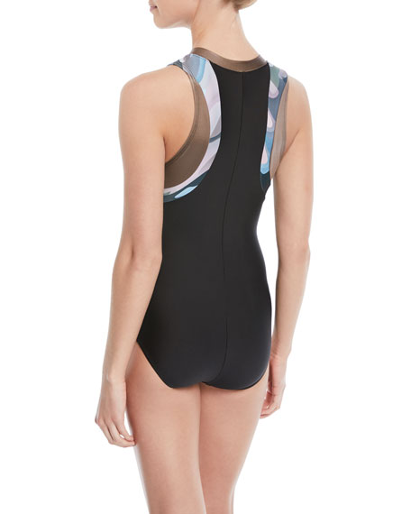 Making Moves Zip-Front One-Piece Swimsuit