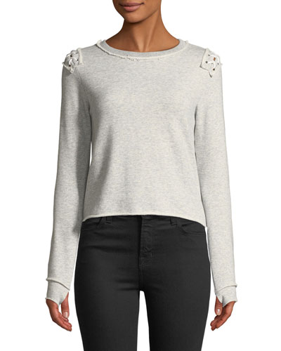 Laurie Lace-Up Pullover Sweatshirt