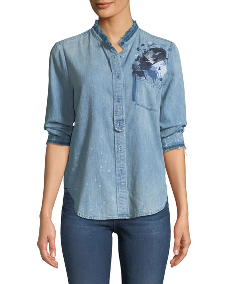 AG Courtney Button-Down Denim Shirt