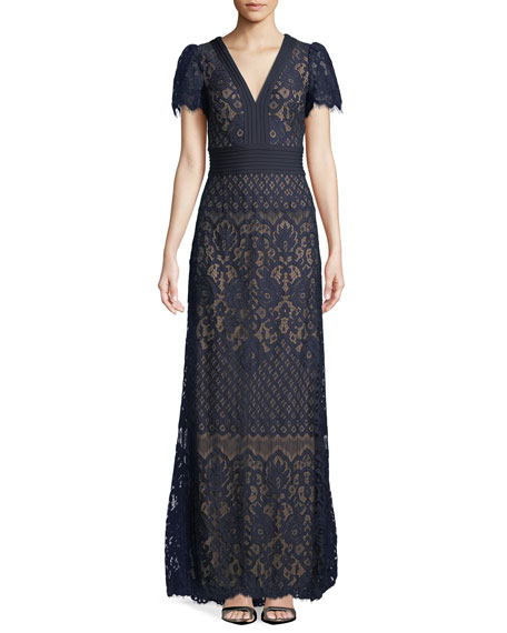 Jessamyn Lace V-Neck Gown