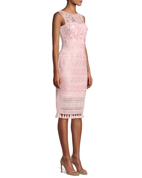 Embroidered Lace Dress w/ Tassel Hem