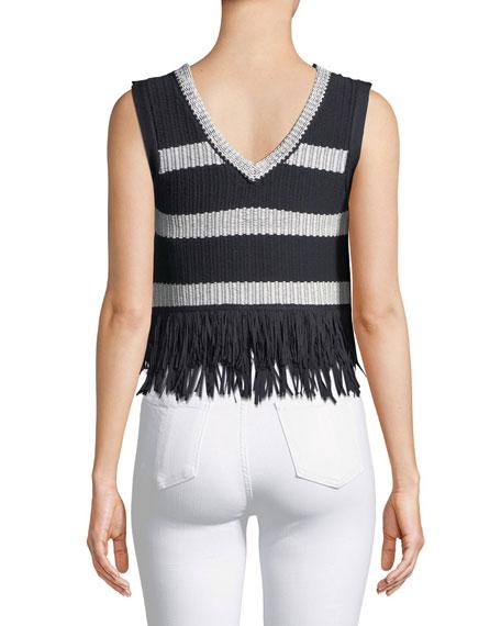 Olivina Sleeveless Fringe Sweater