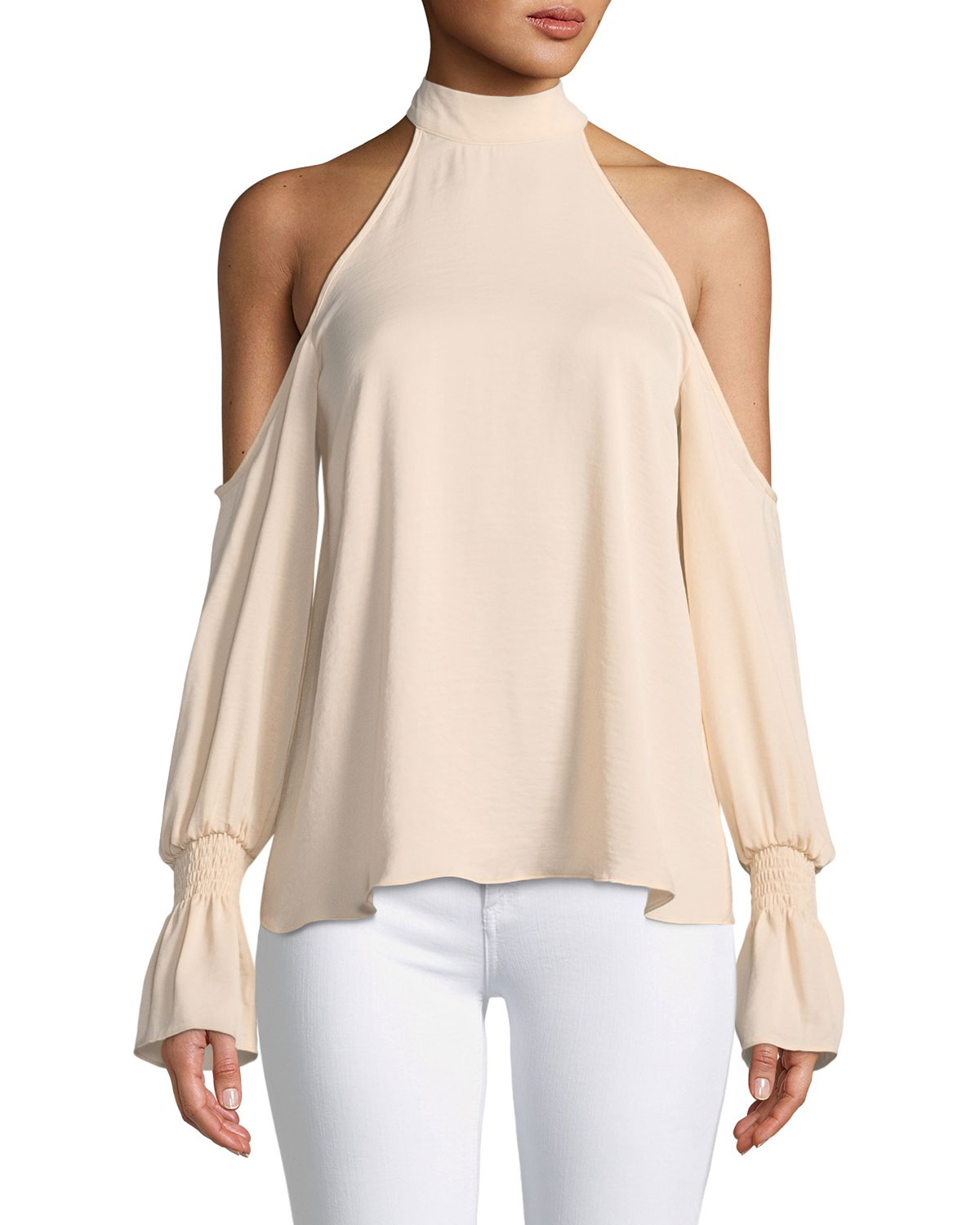 ad16e1983a13b Kendall + Kylie Cold-Shoulder Bell-Sleeve Top