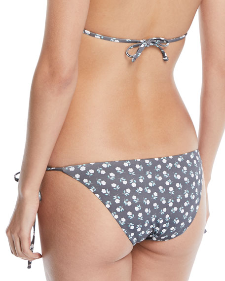 Sadie Petite Fleur Printed Side-Tie Swim Bikini Bottoms