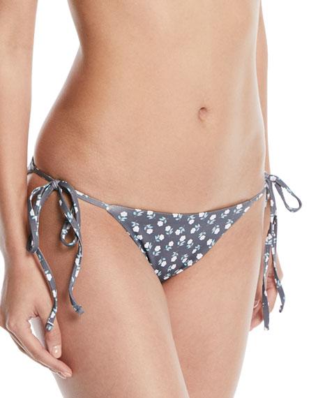 Eberjey Sadie Petite Fleur Printed Side-Tie Swim Bikini