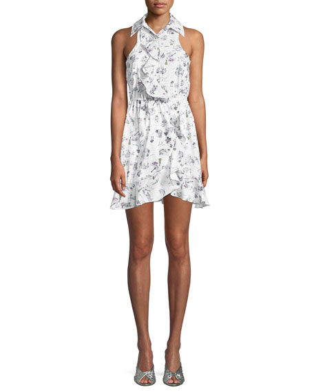 Likely Santula Printed Ruffle Mini Dress