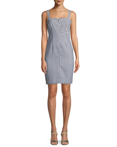 Keeley Checked Sleeveless Knee-Length Dress