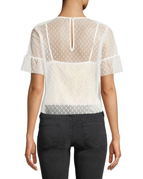 Reena Lace Short-Sleeve Top