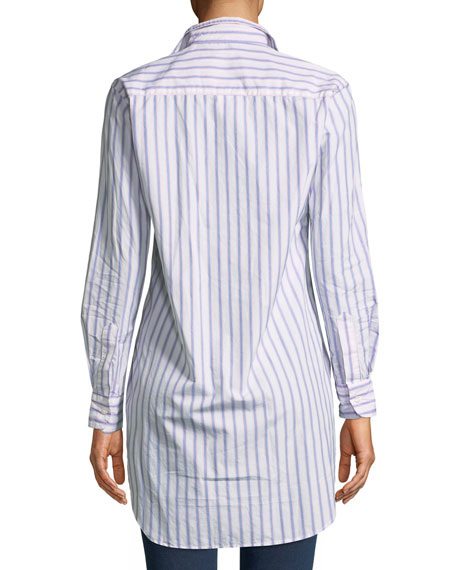 Grayson Striped Long-Sleeve Button-Down Shirt