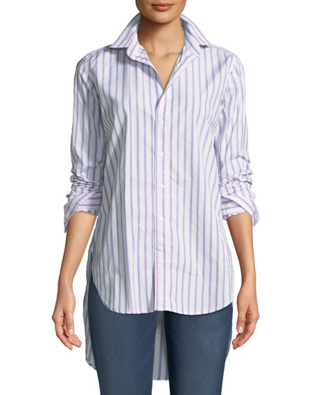 Frank & Eileen Grayson Striped Long-Sleeve Button-Down Shirt