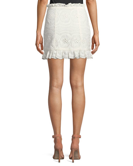 Charlotte Eyelet Lace Mini Skirt
