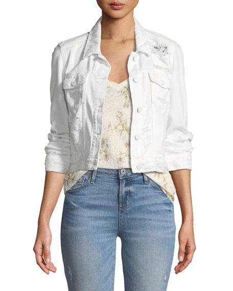 Vivienne Button Front Denim Jacket by Paige