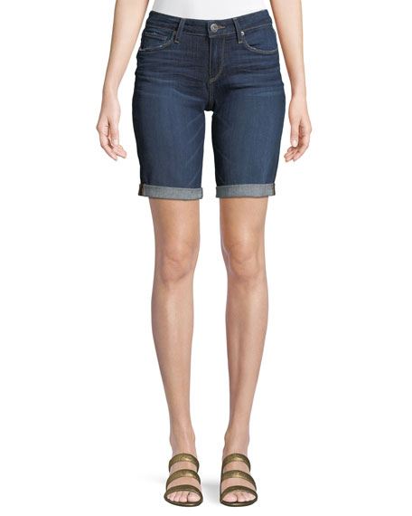PAIGE Jax Knee-Length Denim Shorts